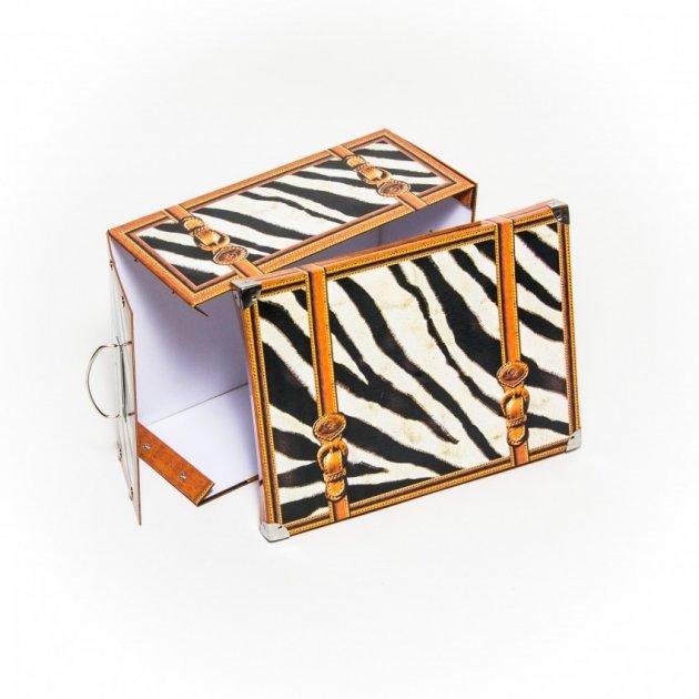 Коробка картонная с металлическими ручками Evoluzione 31 х 42 х 17 см Зебра (16) - изображение 1