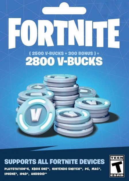 Fortnite 2800 В-баксів 2500 + 300 V-BUCKS PS4 - зображення 1