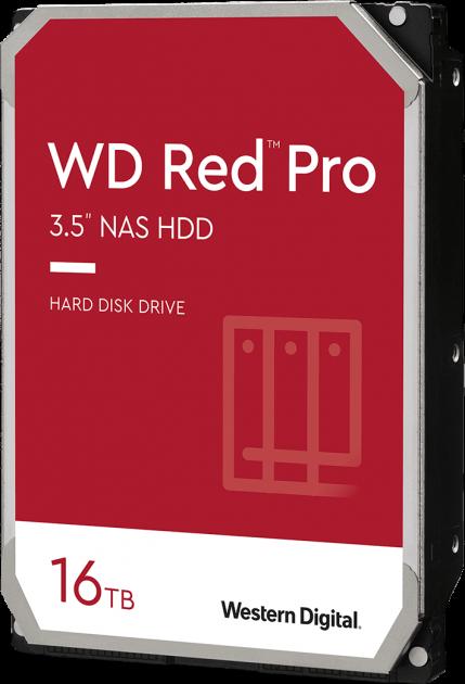 "Жорсткий диск Western Digital Red Pro NAS 16TB 7200rpm 512MB WD161KFGX 3.5"" SATA III - зображення 1"