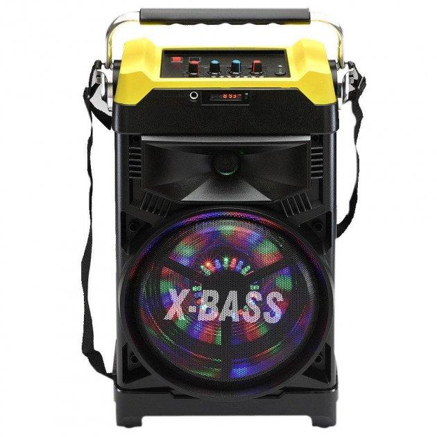 Акустична система NNS валізу комбік Bluetooth колонка підсилювач з мікрофоном Original Жовта (1388) - зображення 1