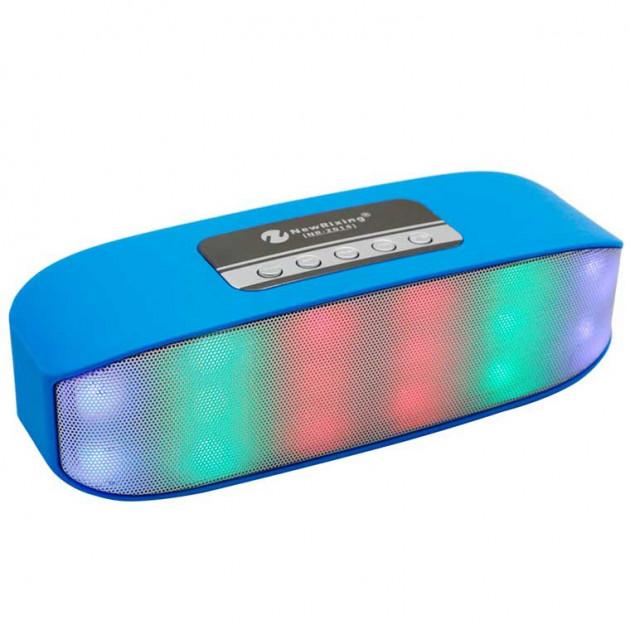 Бездротова акумуляторна Bluetooth колонка акустика New Rixing NR-2014 Original Blue - зображення 1