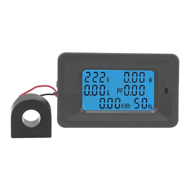 Ватметр Wired Power Monitor 100A AC 220В вимірювач параметрів струму - зображення 1