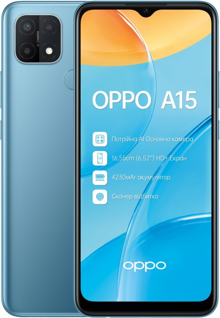 Мобільний телефон OPPO A15 2/32 GB Mystery Blue - зображення 1