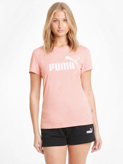 Футболка Puma Ess Logo Tee 58677480 XS Bridal Rose (4063697275812) - изображение 1