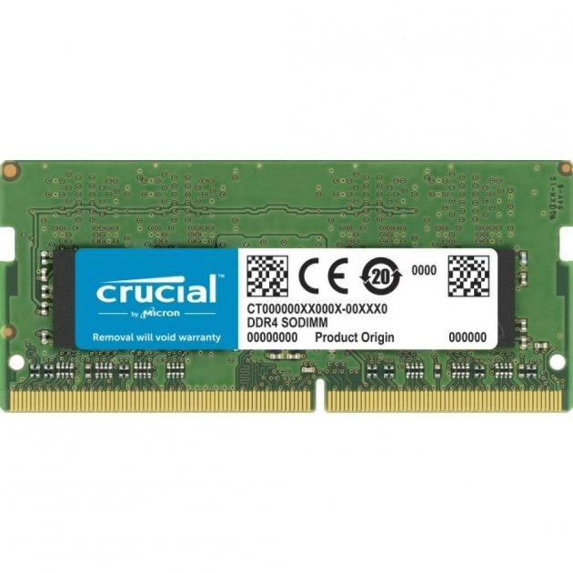 Модуль пам'яті для ноутбука SoDIMM DDR4 8GB 3200 MHz MICRON (CT8G4SFRA32A) - зображення 1