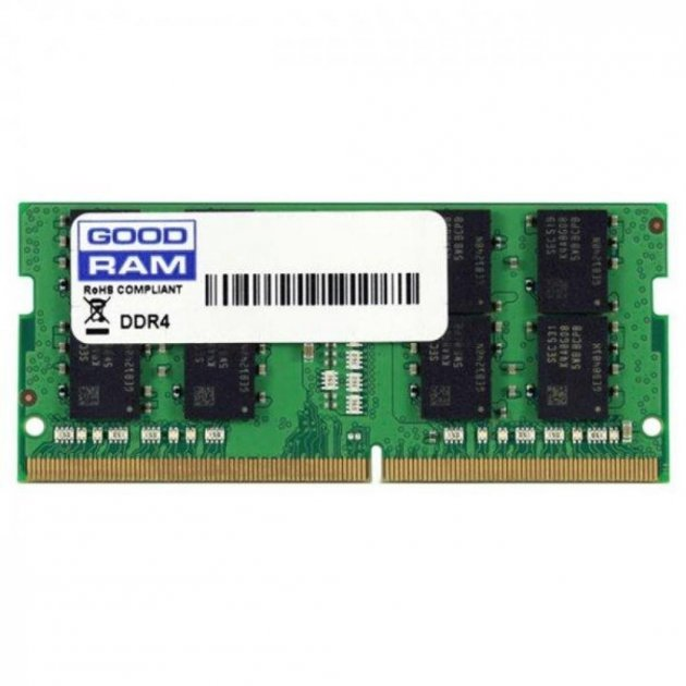 Модуль пам'яті для ноутбука SoDIMM DDR4 16GB 2400 MHz GOODRAM (GR2400S464L17/16G) - зображення 1