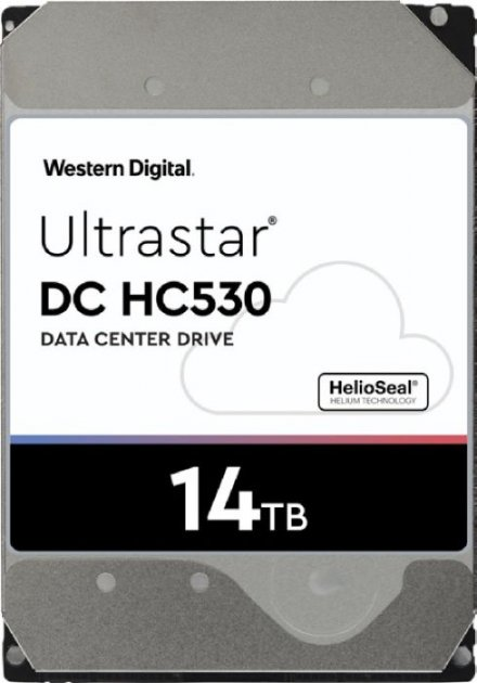 "Жесткий диск Western Digital Ultrastar DC HC530 14TB 7200rpm 512MB WUH721414AL5204 0F31052 3.5"" SAS - изображение 1"