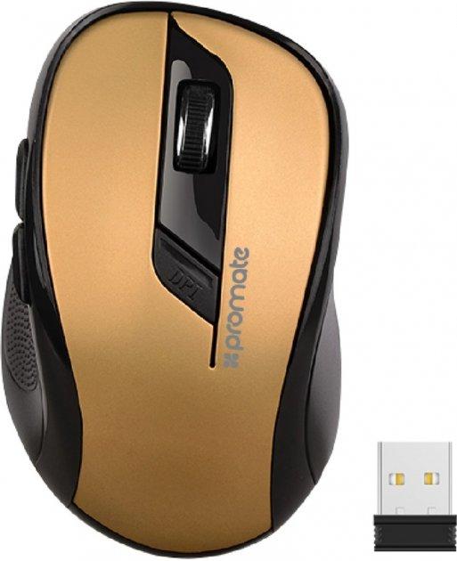 Мышь Promate Clix-7 Wireless Black/Gold (clix-7.gold) - изображение 1