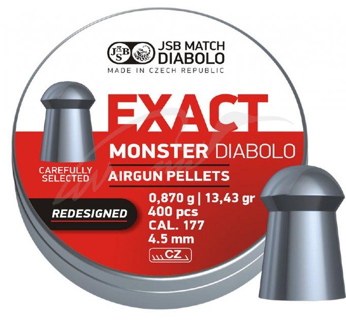 Пули пневм JSB Monster Redesigned. Кал. 4.52 мм. Вес - 0.87 г. 400 шт/уп (1453.05.72) - изображение 1
