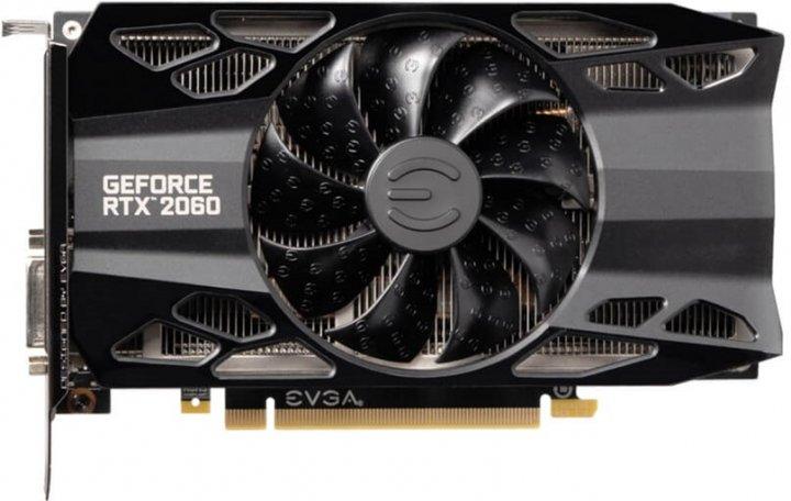 EVGA PCI-Ex GeForce RTX 2060 XC Gaming 6GB GDDR6 (192bit) (1365/14000) (DVI, HDMI, DisplayPort) (06G-P4-2063-KR) - зображення 1