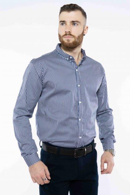 Рубашка в полоску Time of Style 511F054 XS Темно-синий/белый - изображение 1