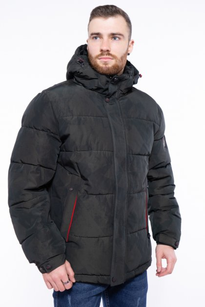 Куртка однотонная Time of Style 191P98854 L Темно-зеленый - изображение 1