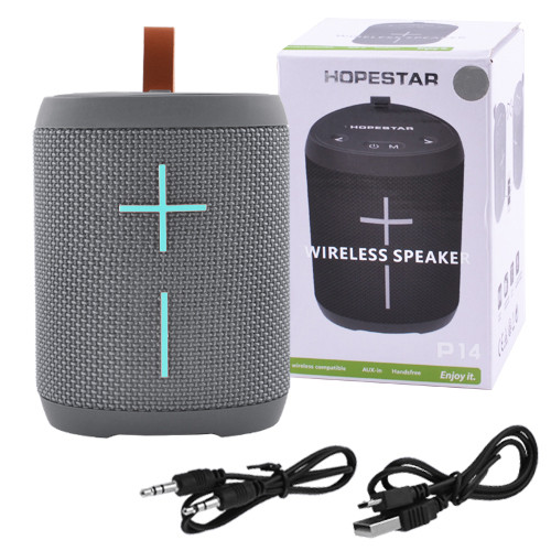 Bluetooth-колонка HOPESTAR-P14, StrongPower, c функцией speakerphone, радио, PowerBank, grey. 31406 - изображение 1