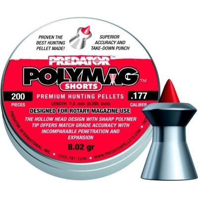 Пульки JSB Polymag Shorts, 4,5 мм , 0,52 г, 200 шт/уп (1010-01-200) - изображение 1