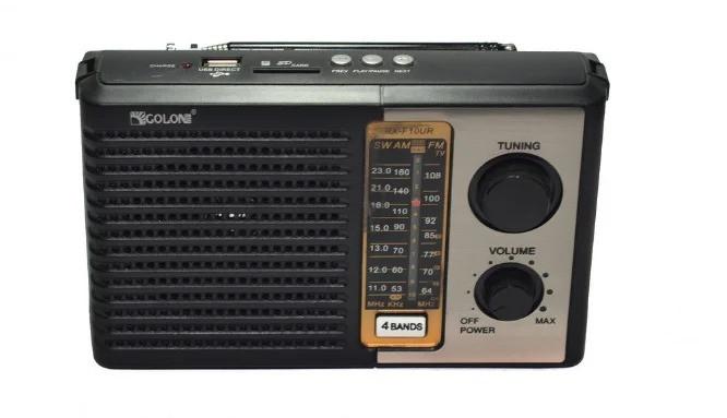 Радіоприймач-колонка акумуляторний Golon F10 MP3 USB SD Чорний - зображення 1