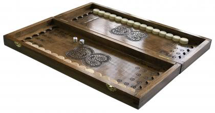 Нарды деревянные ручной работы Newt Backgammon 2 размеры доски 45х40х7 см (NR- 4540) (2000000015644) - изображение 1