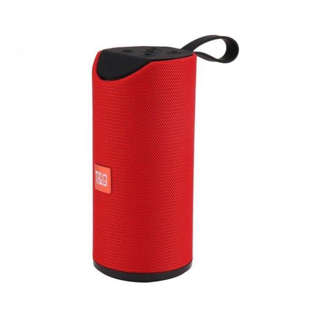 Портативна bluetooth колонка вологостійка T&G 113 червоний - зображення 1