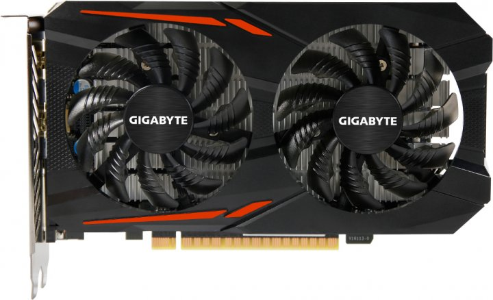 Gigabyte PCI-Ex GeForce GTX 1050 TI OC 4GB GDDR5 (128bit) (1316/7008) (DVI, HDMI, DisplayPort) (GV-N105TOC-4GD) - изображение 1