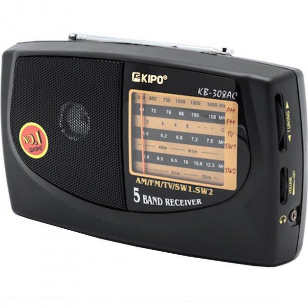 Радиоприемник KIPO KB 308AC Черный - изображение 1