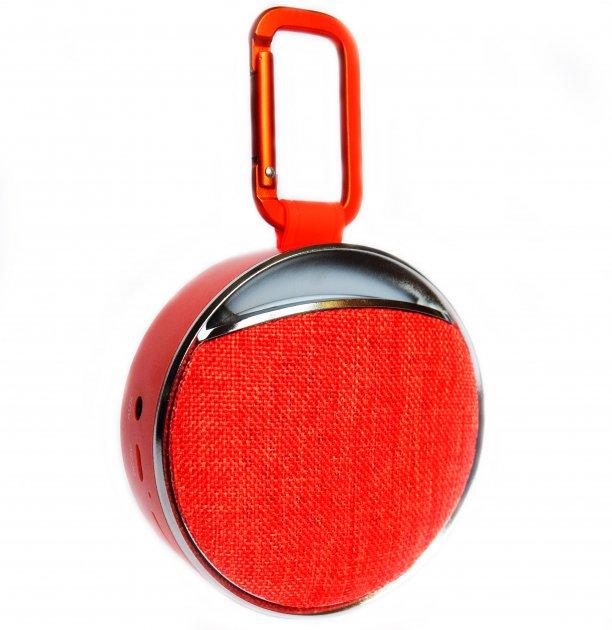 Портативна бездротова bluetooth колонка вологостійка T&G Clip 6 з ліхтариком і карабіном Червона (Clip Red 6) - зображення 1