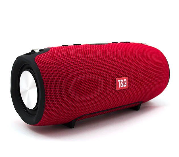 Портативна Bluetooth стерео колонка вологостійка бездротова T&G Xtreme Червона (Xtreme smol Red) - зображення 1