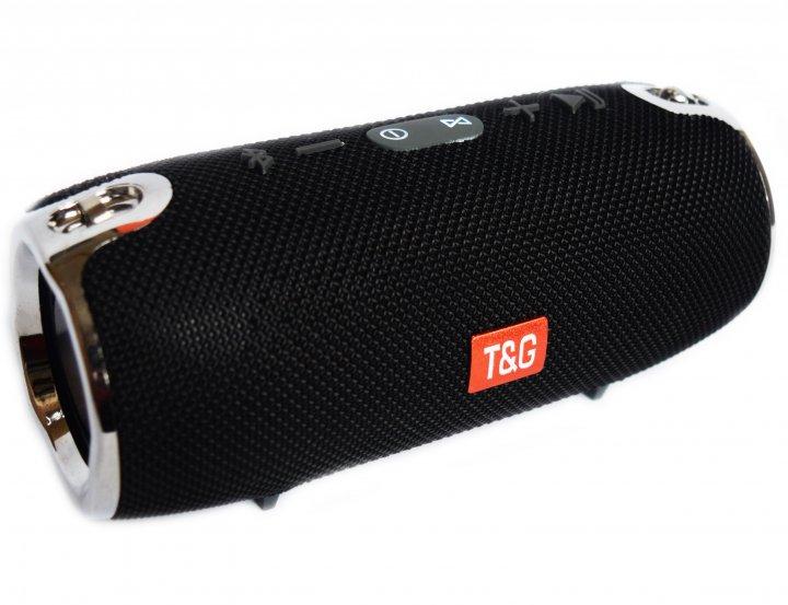 Портативна бездротова Bluetooth стерео колонка T&G Xtreme 12 Чорна (Xtreme 12 Black) - зображення 1