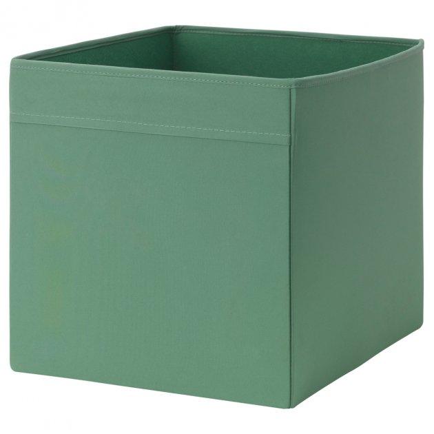 Коробка IKEA (ІКЕА) DRÖNA 33х38х33см темно-зелена (202.988.01) - зображення 1