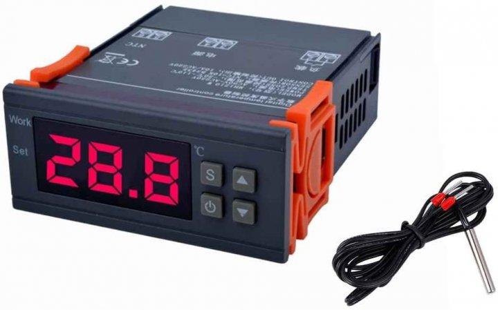 Цифровий регулятор температури -50+110° KETOTEK KT1210W термостат з датчиком температури - зображення 1