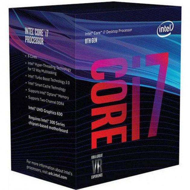 Процессор Intel Core i7 8700K 3.7GHz (12MB, Coffee Lake, 95W, S1151) Box (BX80684I78700K) no cooler - изображение 1