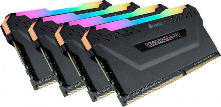 Модуль памяти Corsair RGB Pro K4 32GB DDR4 3200MHz CL16 (CMW32GX4M4Z3200C16) (F00230429) - изображение 1