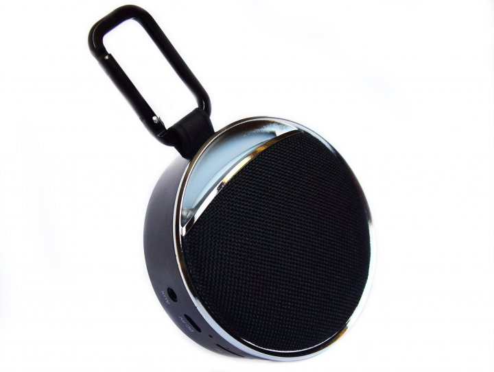 Портативна бездротова bluetooth колонка вологостійка T&G 6 з ліхтариком і карабіном Чорна (Clip 6 Black) - зображення 1