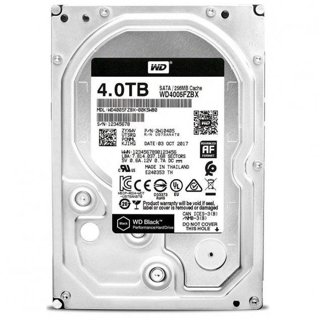 "Жорстку диск 3.5"" 4TB Western Digital (WD4005FZBX) - зображення 1"