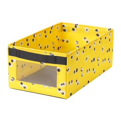 Коробка IKEA ANGELÄGEN 25x44x17 см жовта 704.179.34 - зображення 1