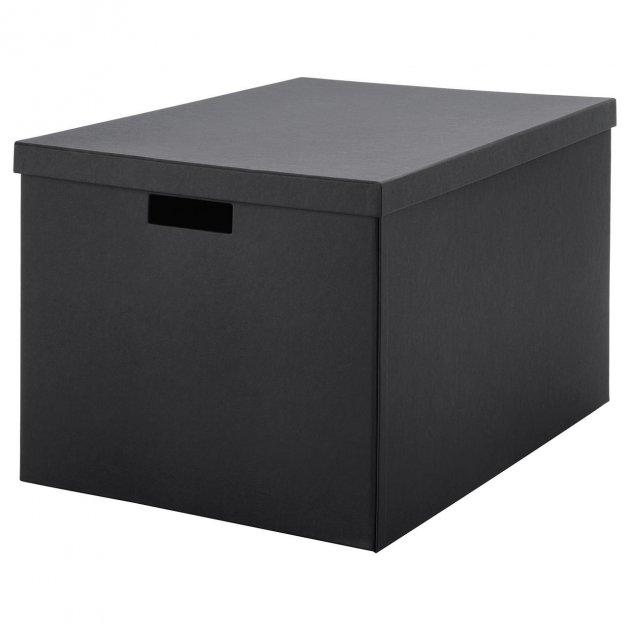 Коробка з кришкою IKEA TJENA 35x50x30 см чорна 103.743.48 - зображення 1