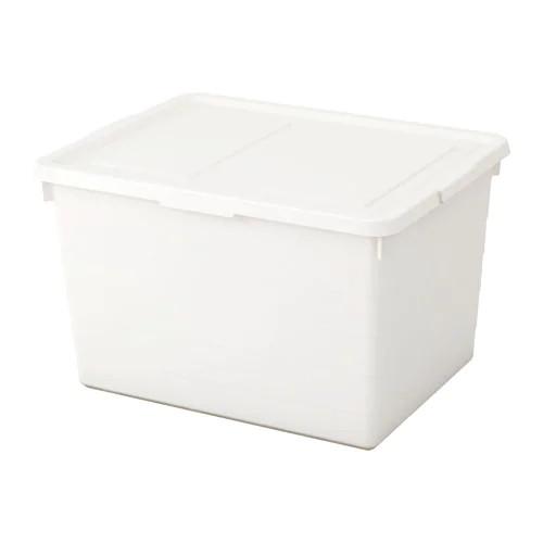 Коробка с крышкой IKEA SOCKERBIT 38x51x30 см белая 803.160.67 - зображення 1
