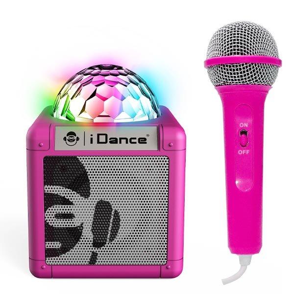 Дитяче караоке-система з диско-кулею iDance Cube Sing 100, 5W Pink (CUBESING100PK) - зображення 1