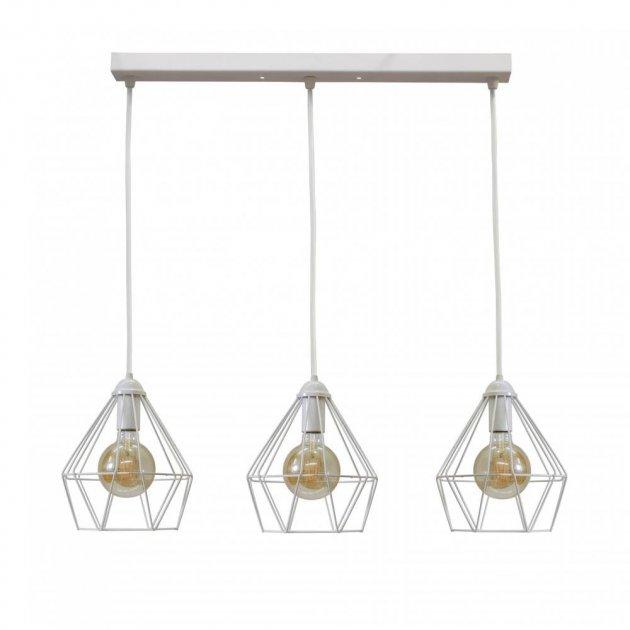 Светильник подвесной на три лампы белый NL 0537-3W белый - изображение 1