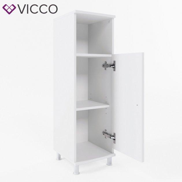 Шкаф для ванной Vicco Fynn, 30x95, белый - изображение 1
