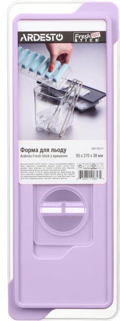 Форма для льда Ardesto Fresh Stick с крышкой 9.5х27х4 см Лиловая (AR1102LP) - изображение 1