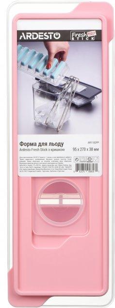 Форма для льоду Ardesto Fresh Stick з кришкою 9.5х27х4 см Рожева (AR1102PP) - зображення 1
