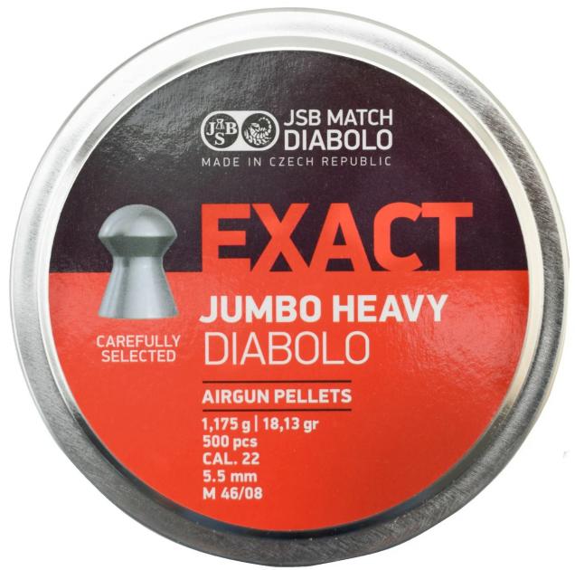 Кулі пневм JSB Jumbo Heavy, 5,52 мм , 1,175 г, 500 шт/уп - зображення 1