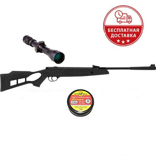 Пневматична гвинтівка Hatsan Striker Edge з газовою пружиною + 3-9х40 Sniper AR + кулі в подарунок - зображення 1