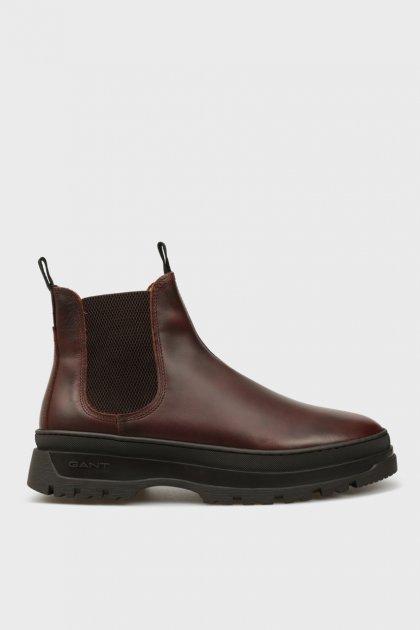 Мужские коричневые кожаные челси ST GRIP Gant 40 21651040 - изображение 1