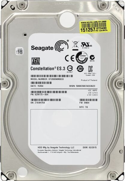 Seagate Constellation ES.3 ST2000NM0033 - изображение 1