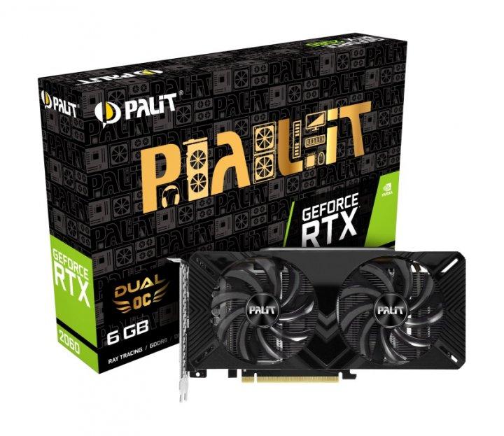 Відеокарта GF RTX 2060 6GB GDDR6 Dual OC Palit (NE62060S18J9-1160A) - зображення 1
