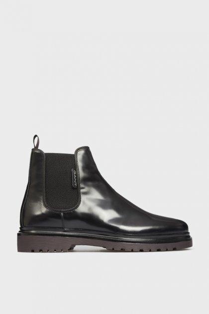 Мужские черные кожаные челси BEAUMONT Gant 41 21651005 - изображение 1