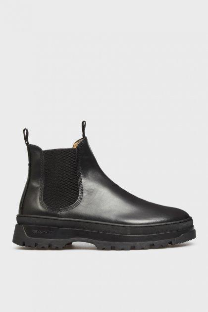 Мужские черные кожаные челси ST GRIP Gant 45 21651040 - изображение 1