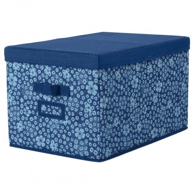 Коробка IKEA STORSTABBE 35x50x30 см с крышкой синяя 203.954.06 - зображення 1