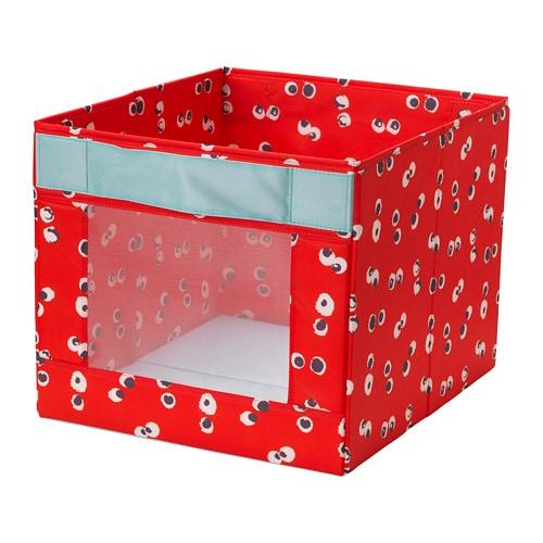 Коробка IKEA ANGELÄGEN 38x42x33 см красная 604.179.44 - зображення 1
