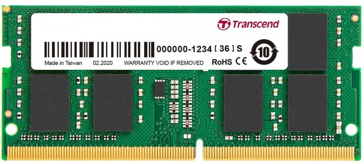 Оперативна пам'ять Transcend SODIMM DDR4-3200 8192 MB PC4-25600 (JM3200HSG-8G) - зображення 1